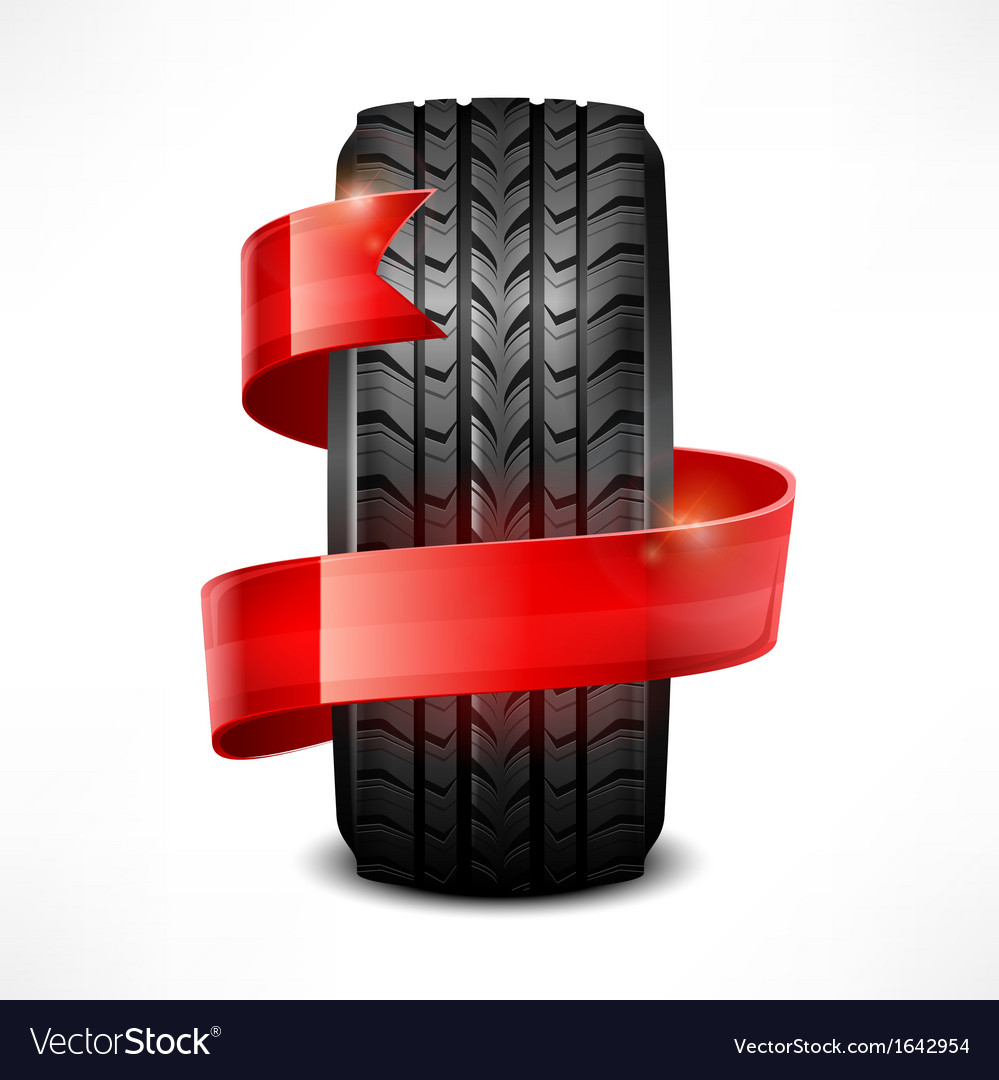 Rubber tire  ribbon vector | Price: 1 Credit (USD $1)