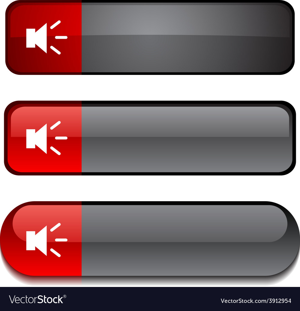 Sound button set vector | Price: 1 Credit (USD $1)