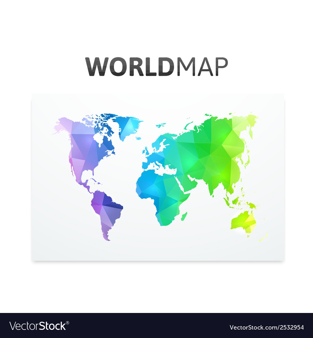 World map of rainbow color vector | Price: 1 Credit (USD $1)