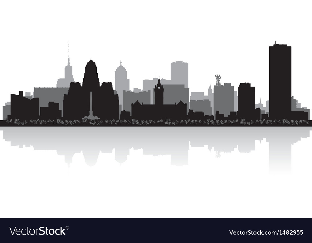 Buffalo usa city skyline silhouette vector | Price: 1 Credit (USD $1)