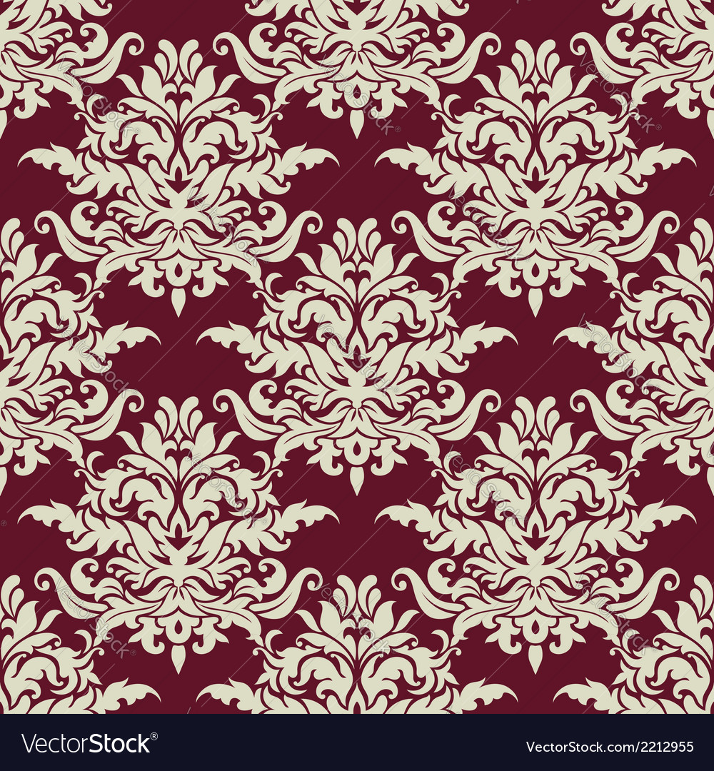 Busy arabesque pattern with large floral motifs vector   Price: 1 Credit (USD $1)