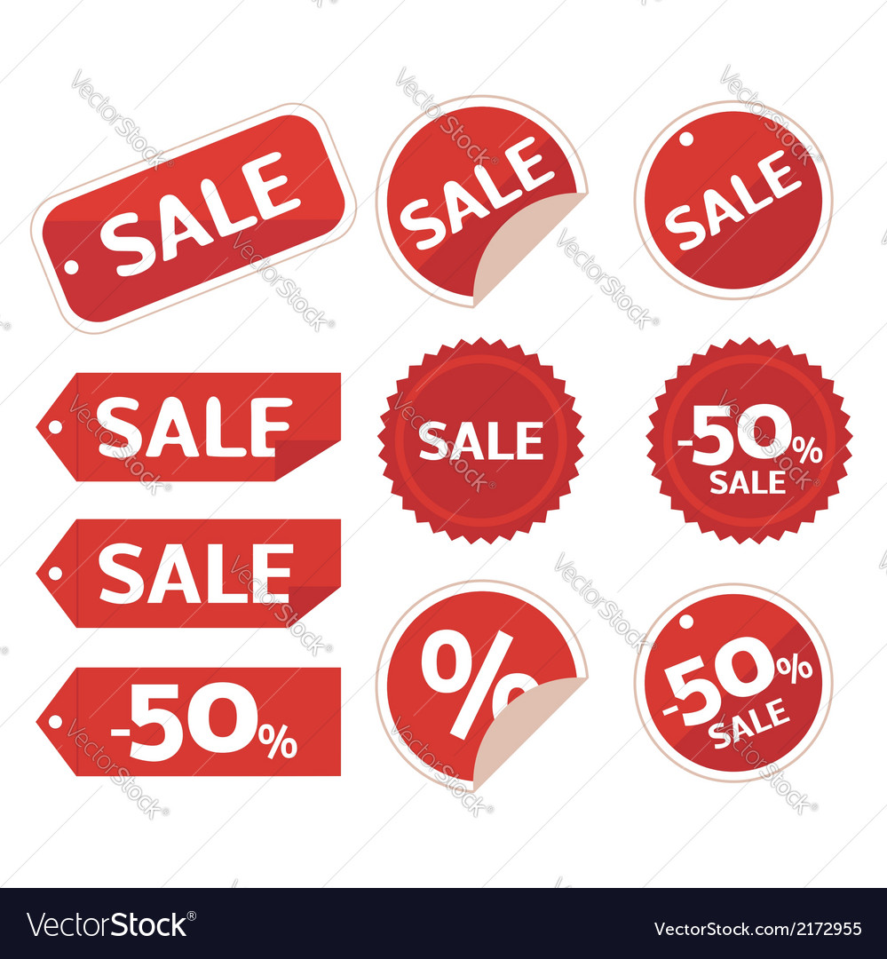 Collection of sale discount origami vector   Price: 1 Credit (USD $1)