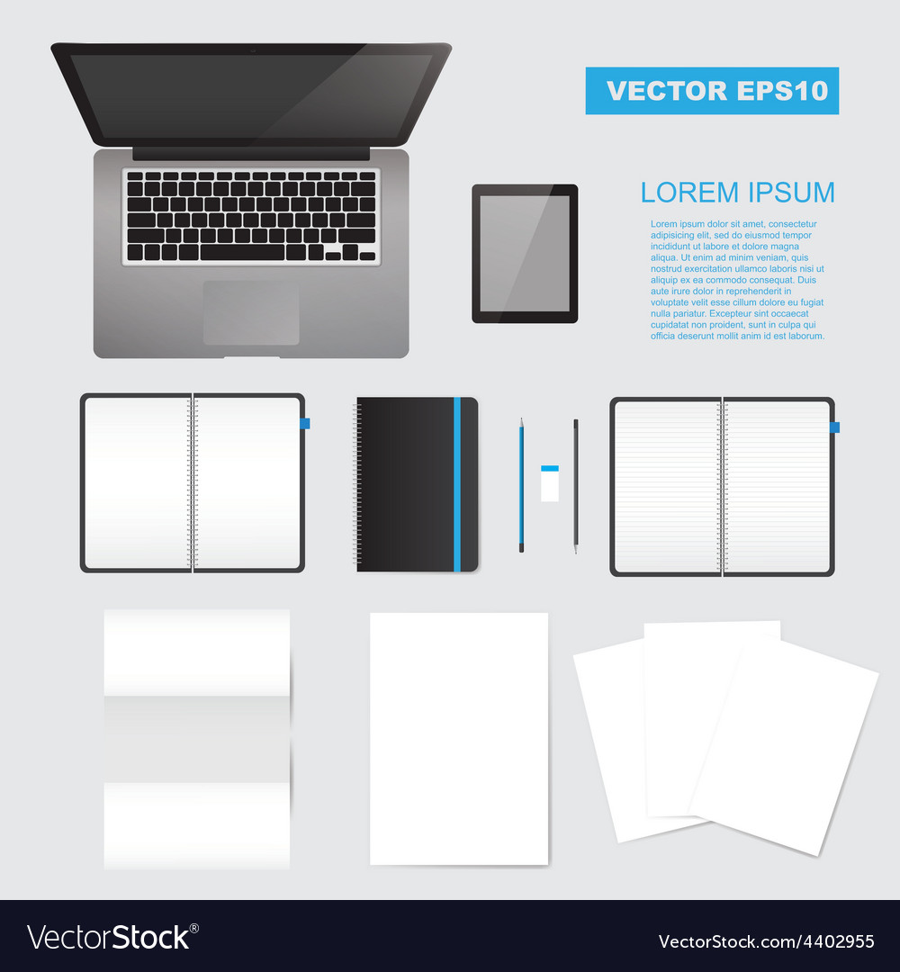 Corporate identity mock up vector | Price: 1 Credit (USD $1)