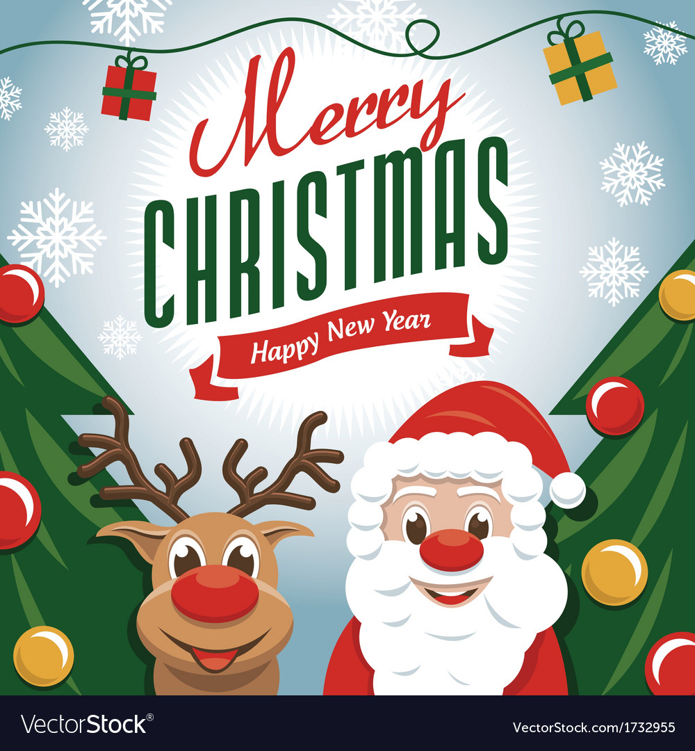 Cute christmas card vector | Price: 3 Credit (USD $3)