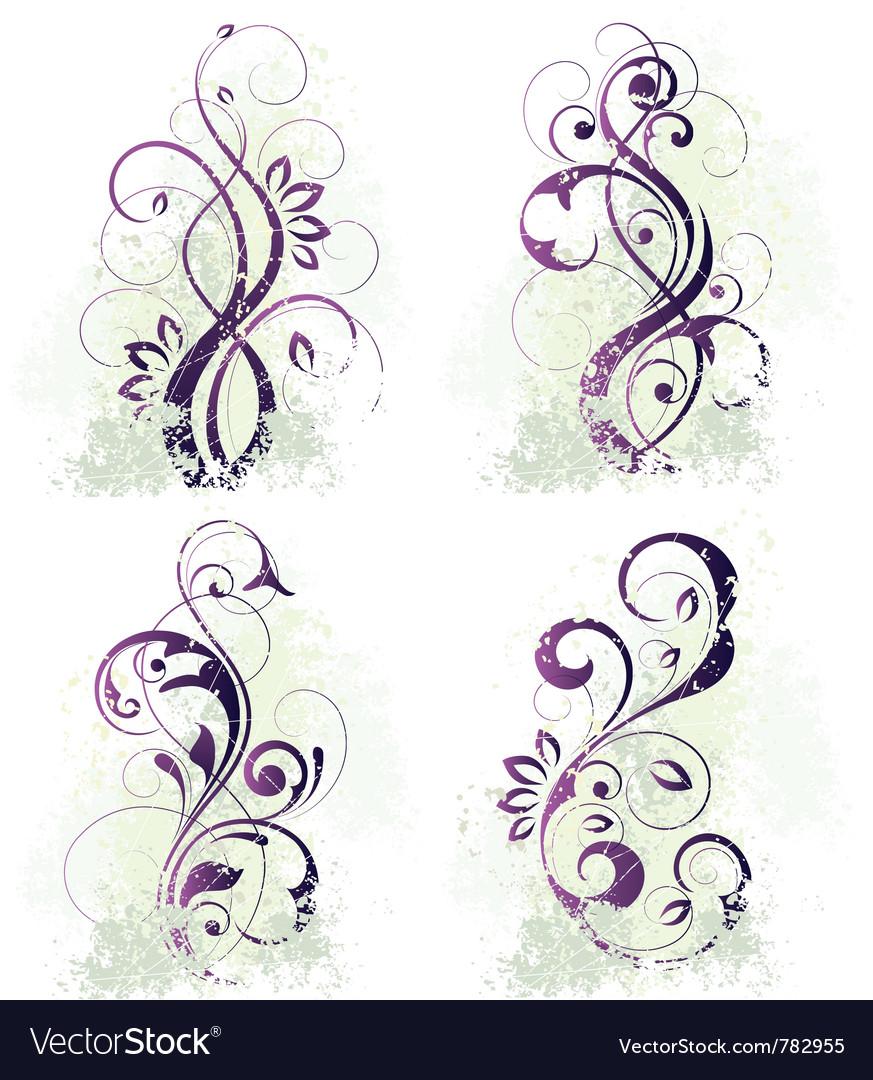Floral designs vector | Price: 1 Credit (USD $1)