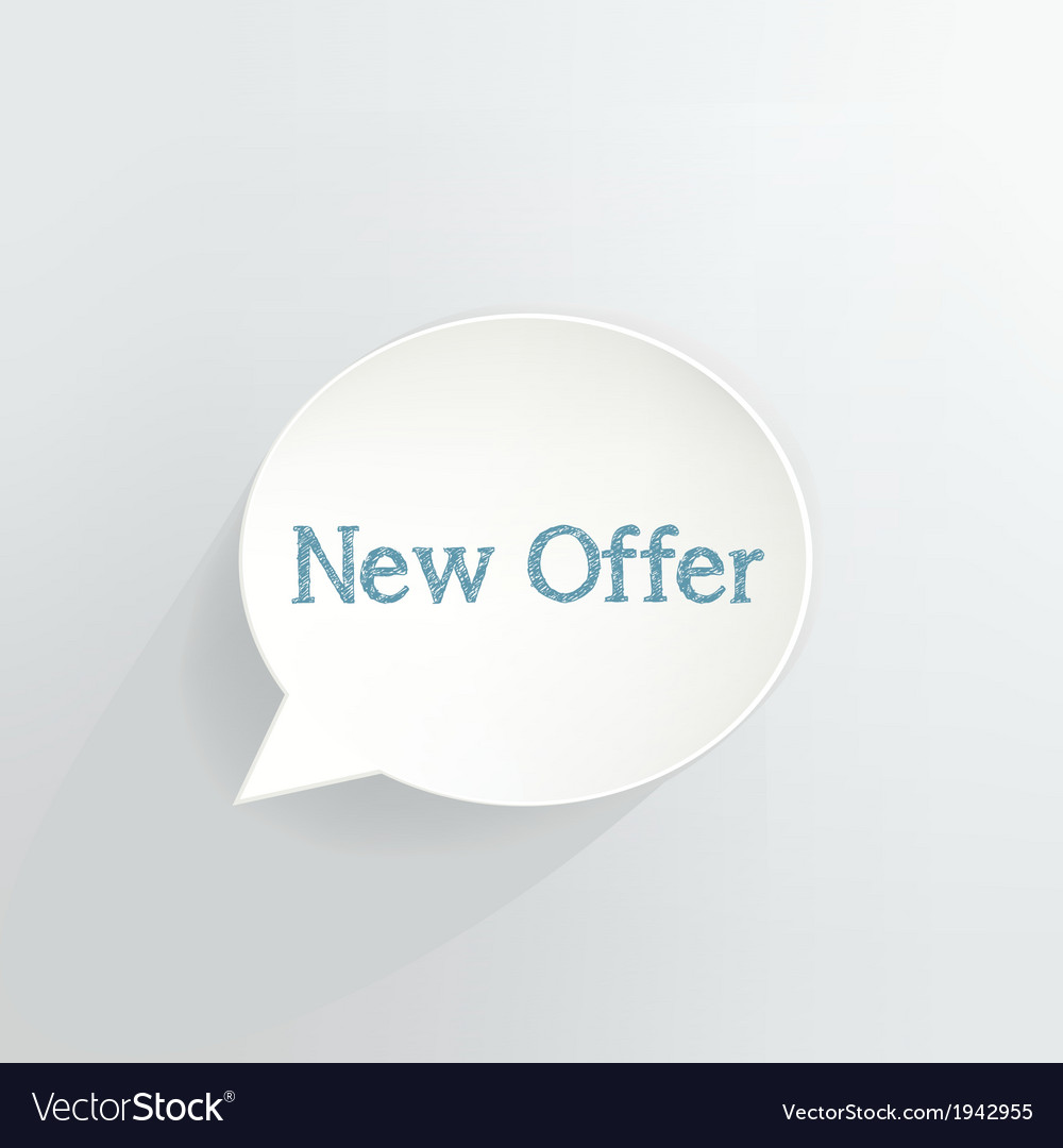 New offer vector | Price: 1 Credit (USD $1)