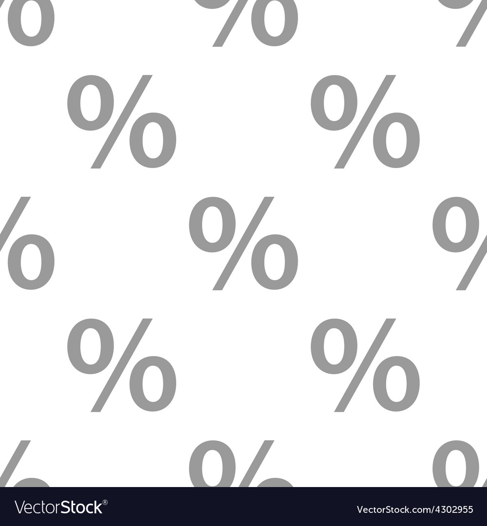 New percent seamless pattern vector | Price: 1 Credit (USD $1)