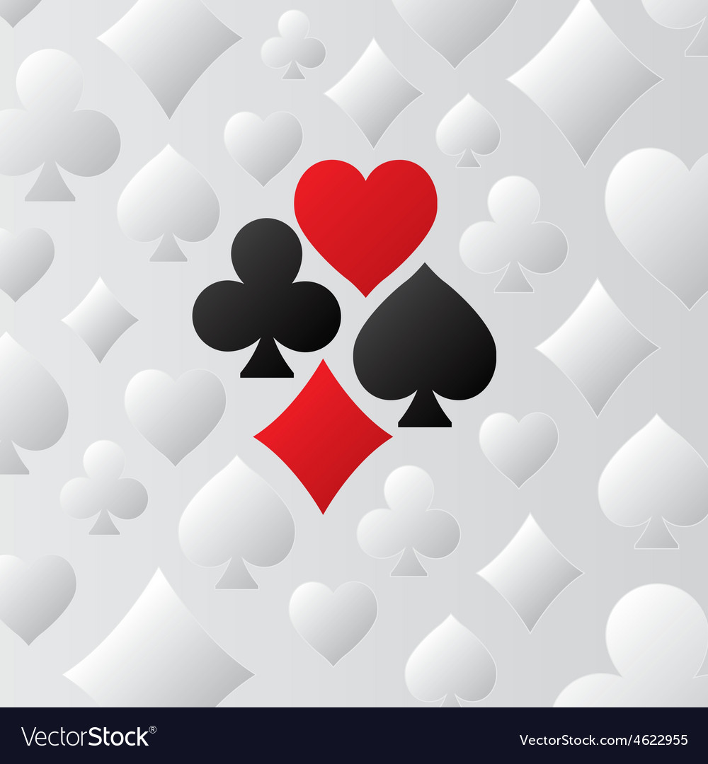 Playing card suits pattern vector | Price: 1 Credit (USD $1)