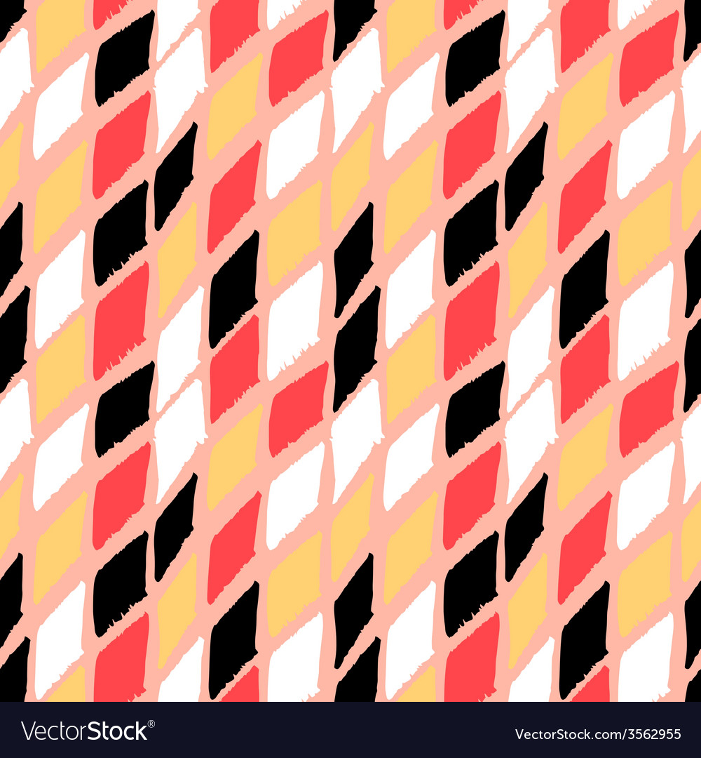 Seamless bold harlequin pattern vector | Price: 1 Credit (USD $1)