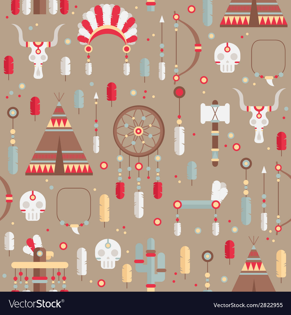 Seamless pattern of colorful ethnic set with dream vector | Price: 1 Credit (USD $1)