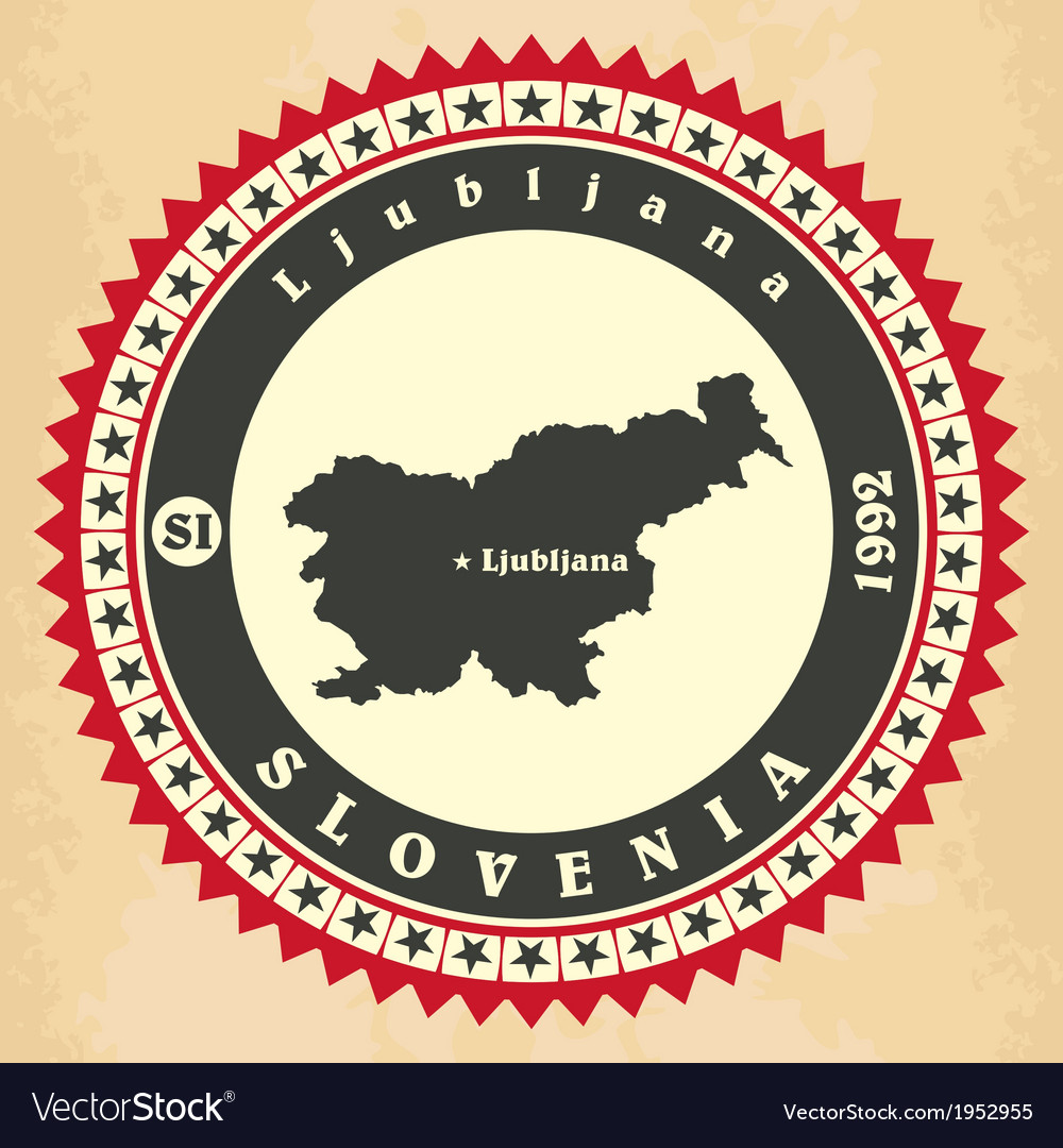 Vintage label-sticker cards of slovenia vector | Price: 1 Credit (USD $1)