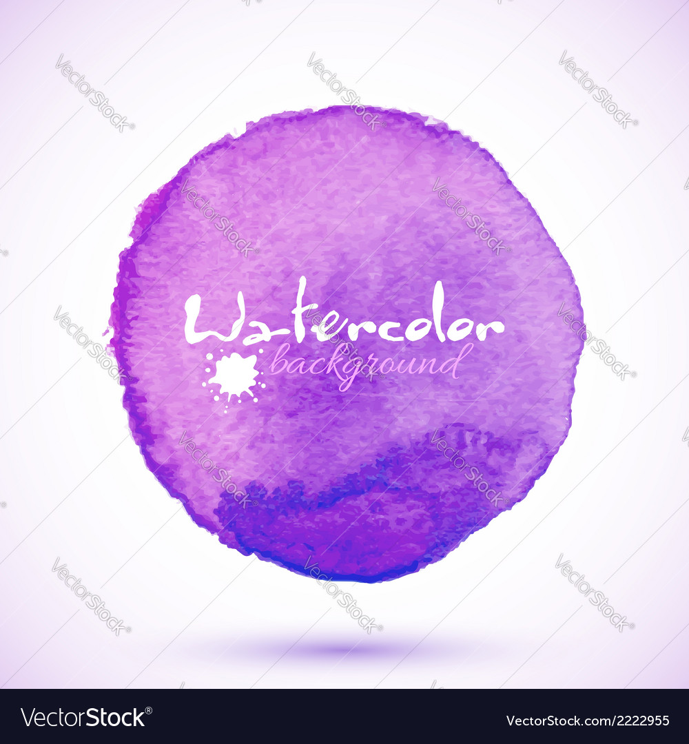 Violet isolated watercolor paint circle vector | Price: 1 Credit (USD $1)