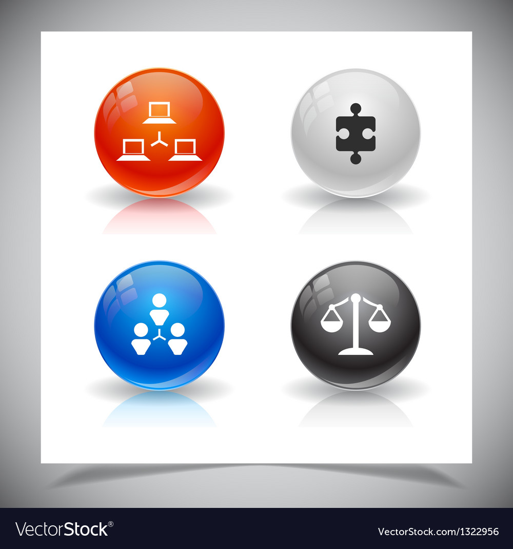 Abstract glass balls vector | Price: 1 Credit (USD $1)