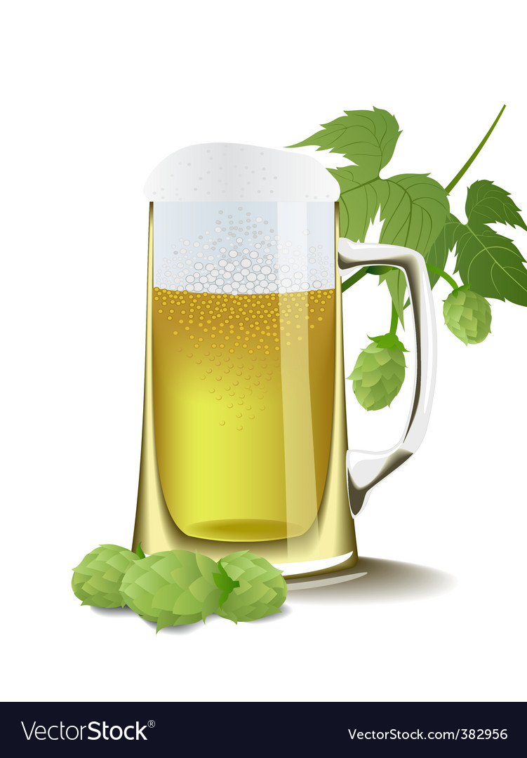 Beer and hops vector | Price: 1 Credit (USD $1)