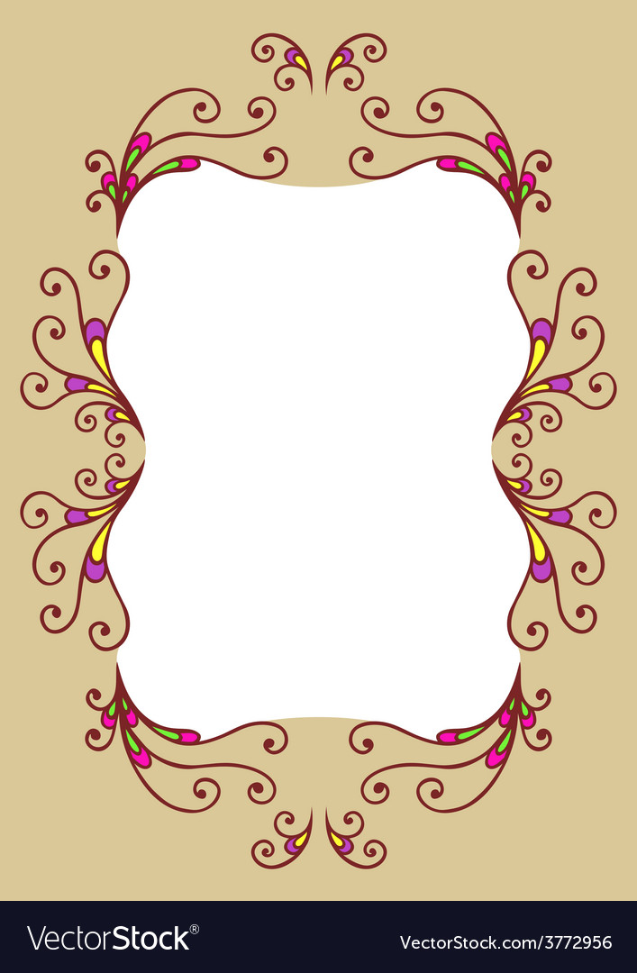 Decor frame vector | Price: 1 Credit (USD $1)