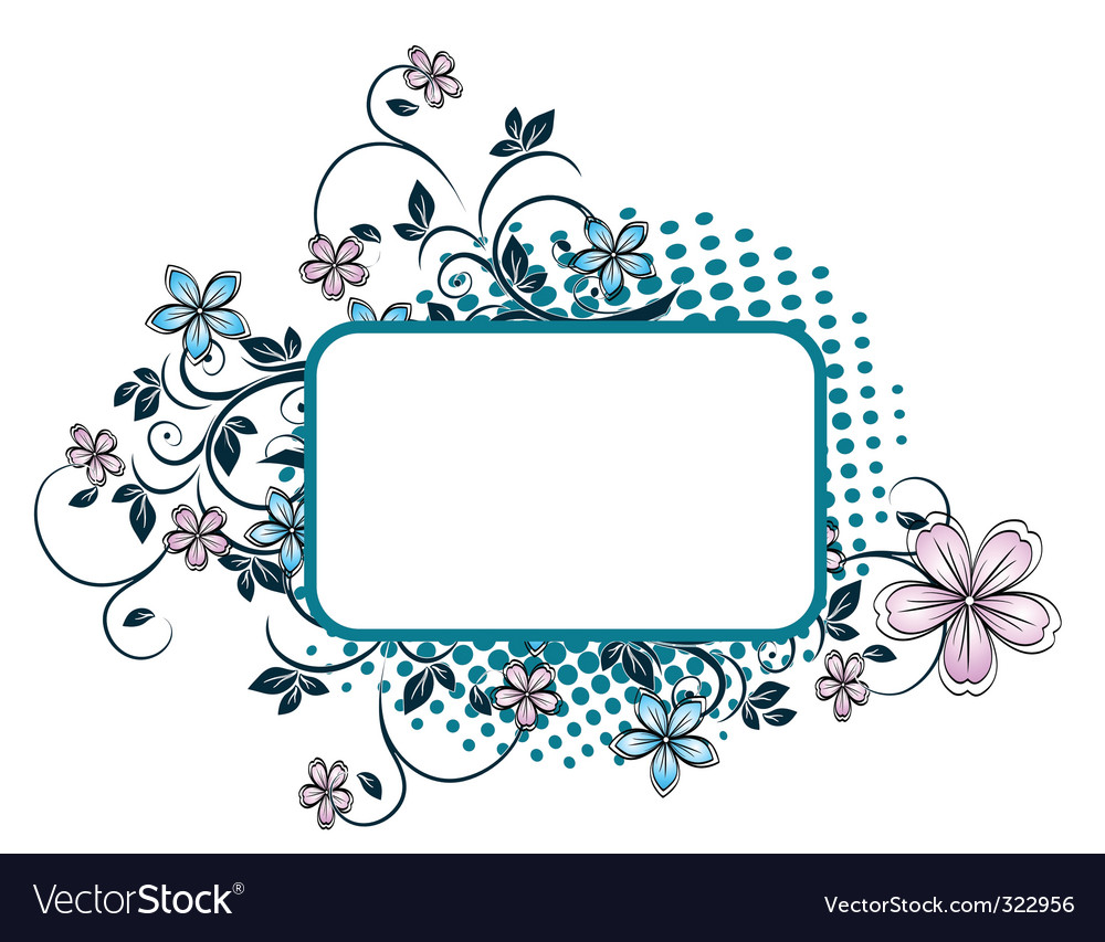 Floral grunge background vector | Price: 1 Credit (USD $1)