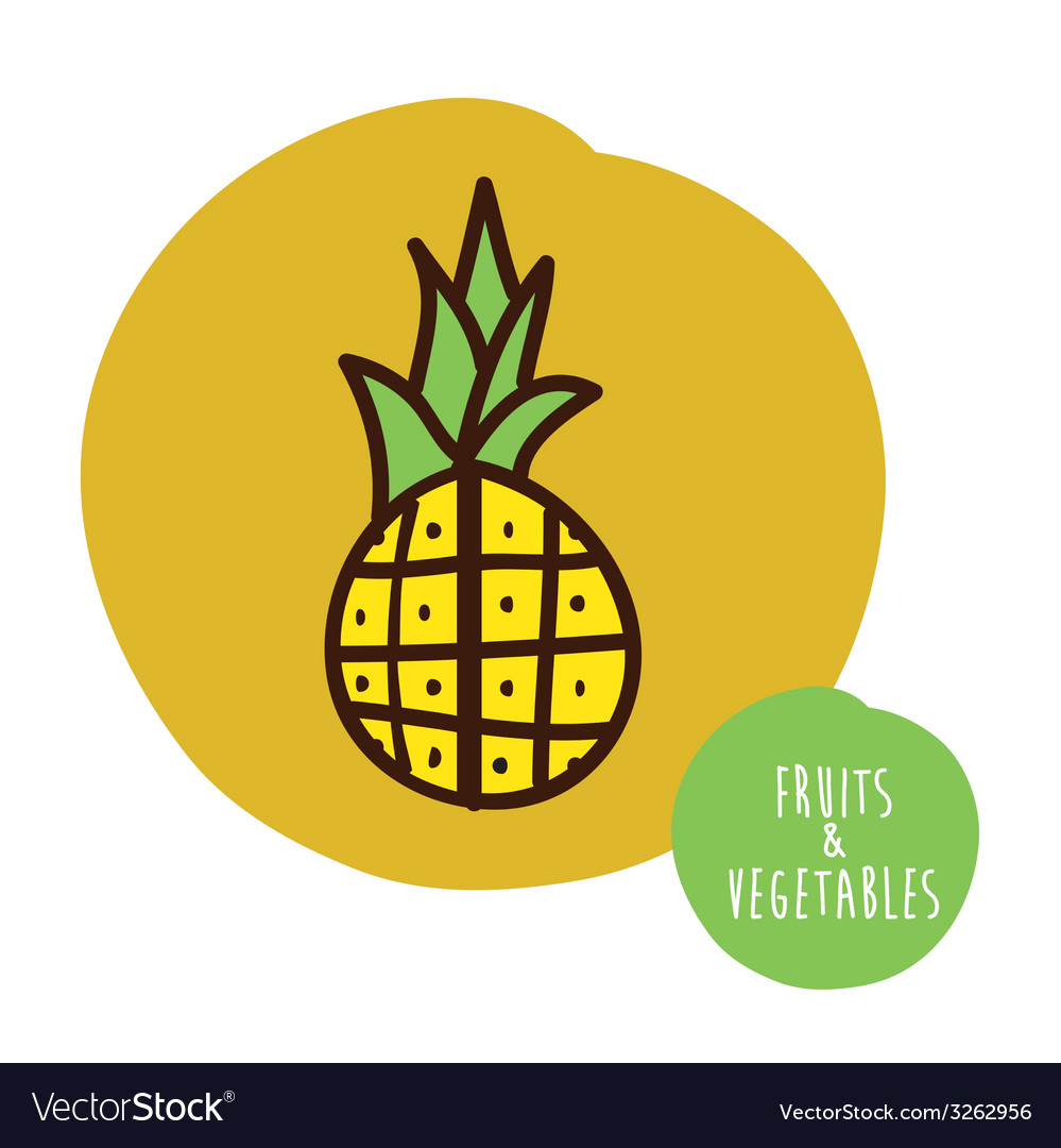 Fruits cute design vector | Price: 1 Credit (USD $1)