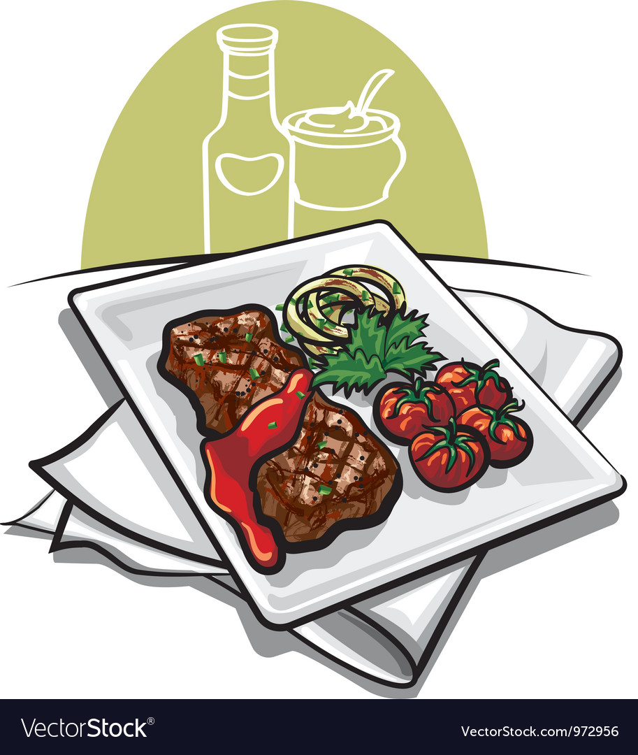 Grilled meat and sauce vector | Price: 3 Credit (USD $3)