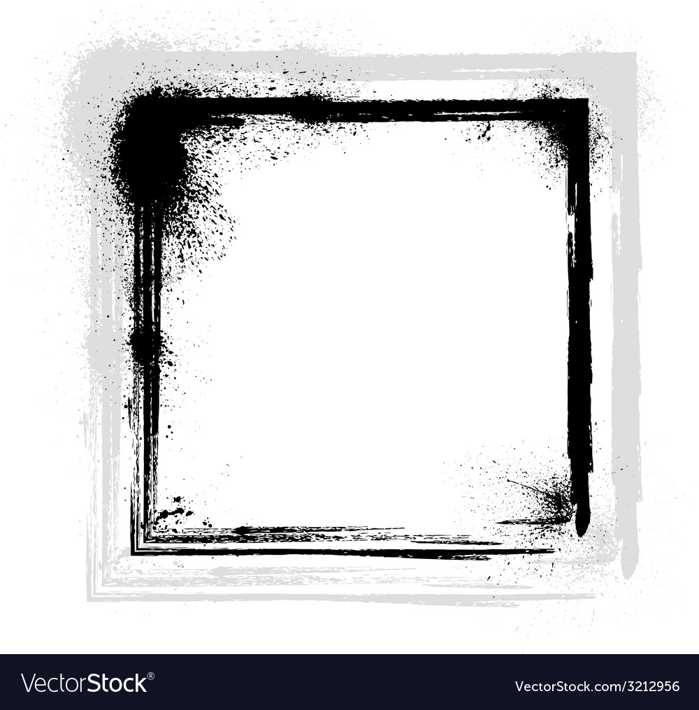 Ink blots frame vector | Price: 1 Credit (USD $1)