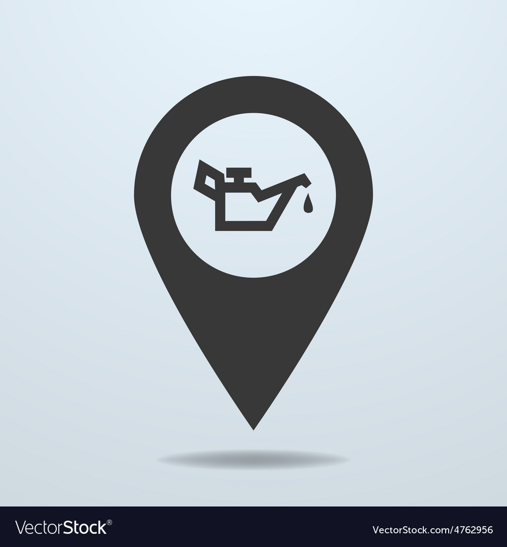 Map pointer with a oiler symbol vector | Price: 1 Credit (USD $1)