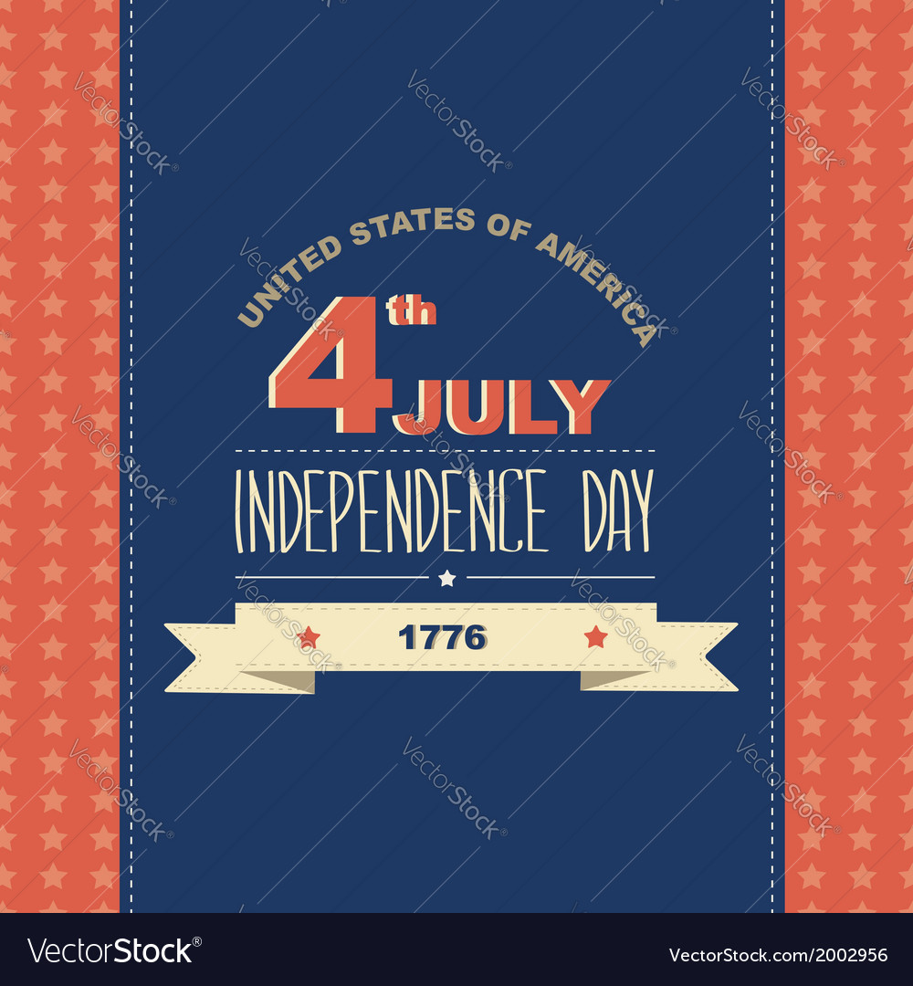Poster 4 july independence daytypography vector | Price: 1 Credit (USD $1)