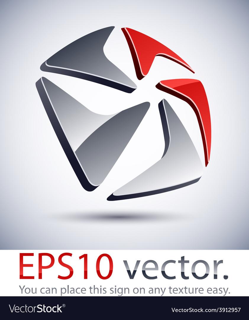 3d modern pentagonal logo icon vector | Price: 1 Credit (USD $1)