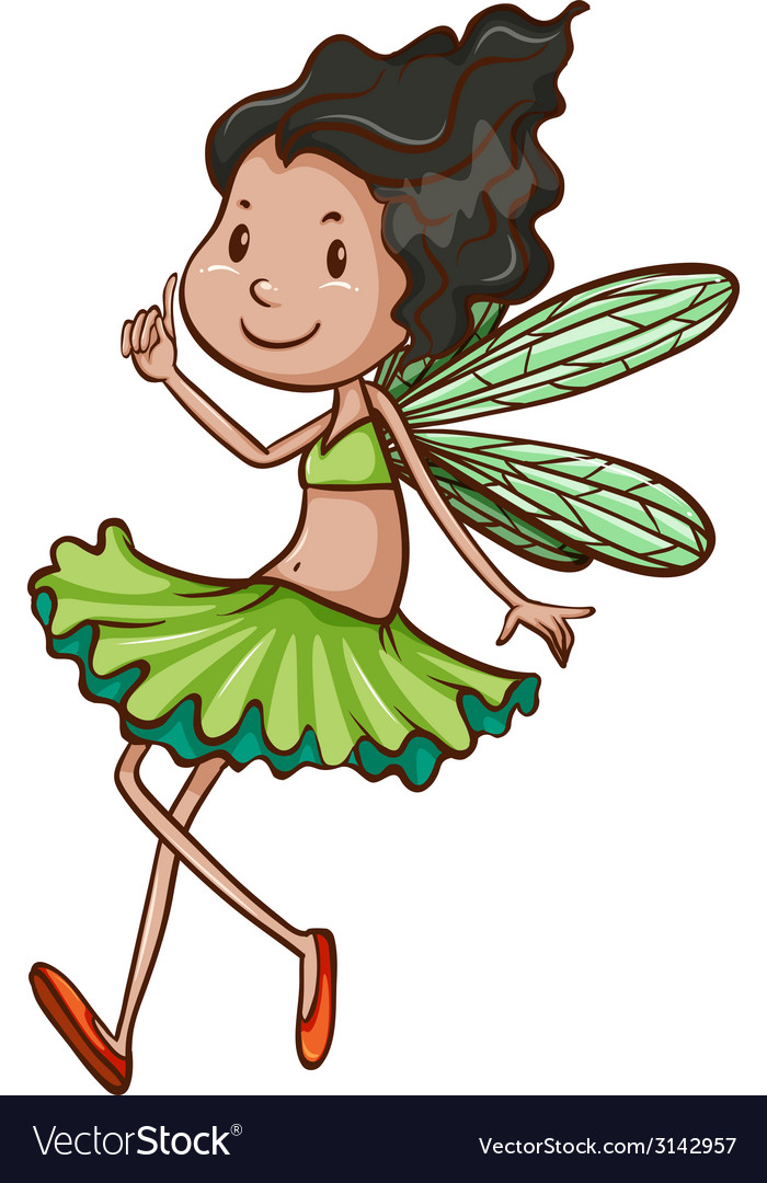 A simple drawing of a fairy vector | Price: 1 Credit (USD $1)