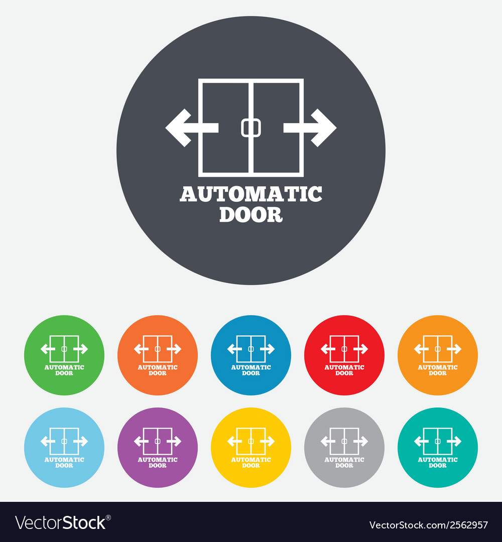 Automatic door sign icon auto open symbol vector | Price: 1 Credit (USD $1)