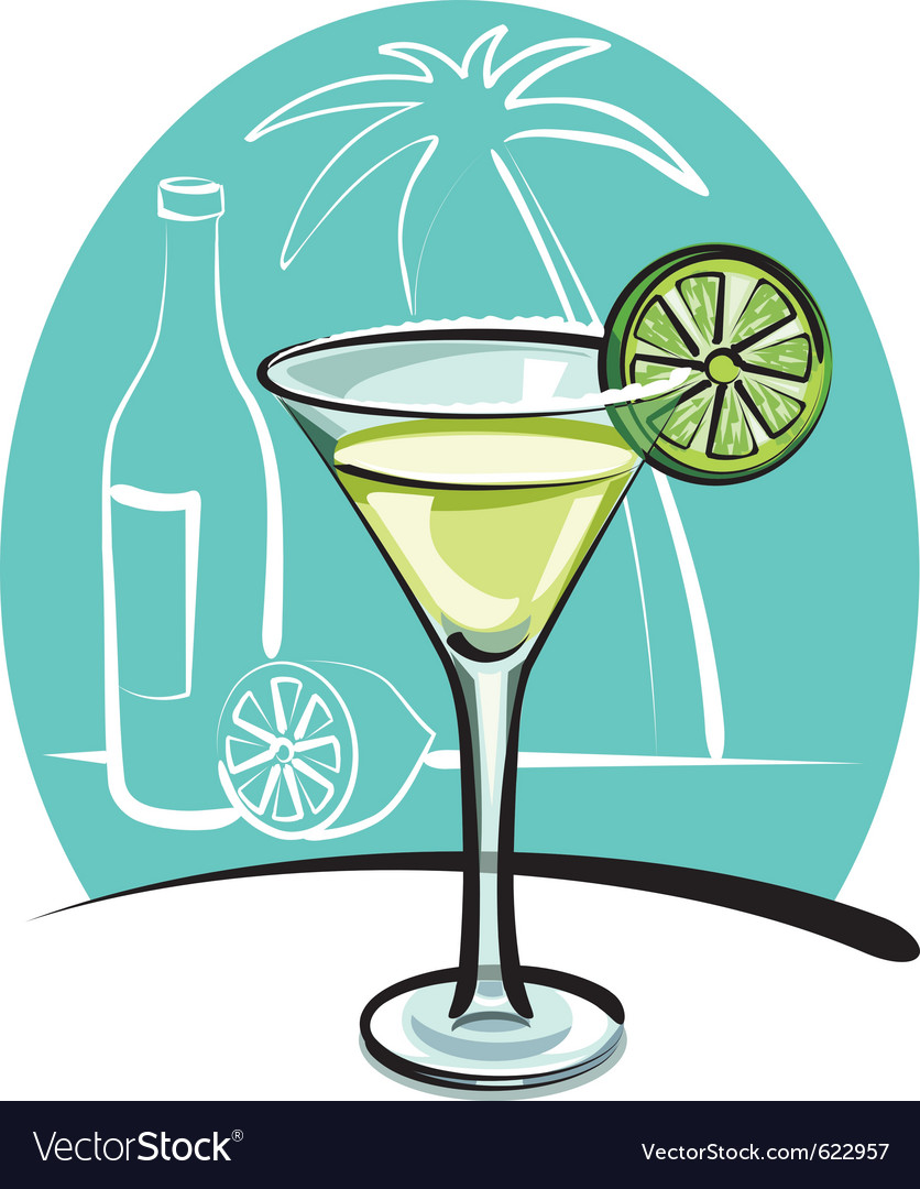 Cocktail margarita vector | Price: 3 Credit (USD $3)