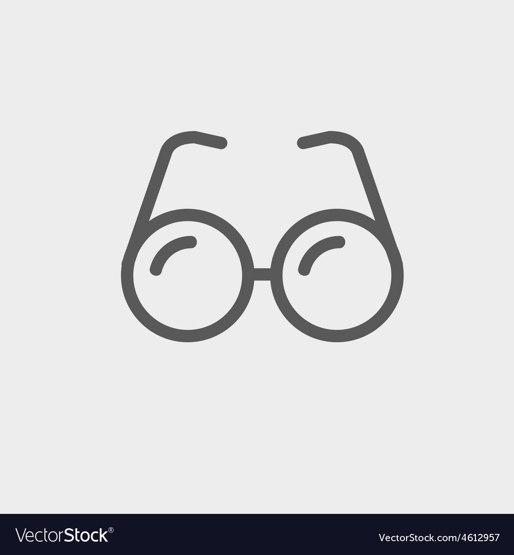 Eyeglasses thin line icon vector | Price: 1 Credit (USD $1)