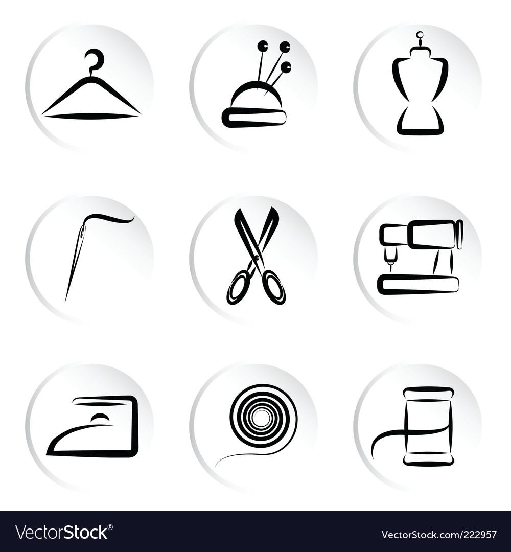 Fashion icons set vector | Price: 1 Credit (USD $1)