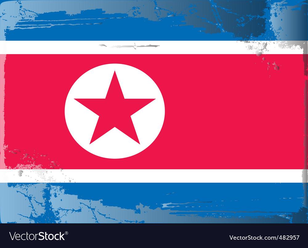 North korea national flag vector | Price: 1 Credit (USD $1)