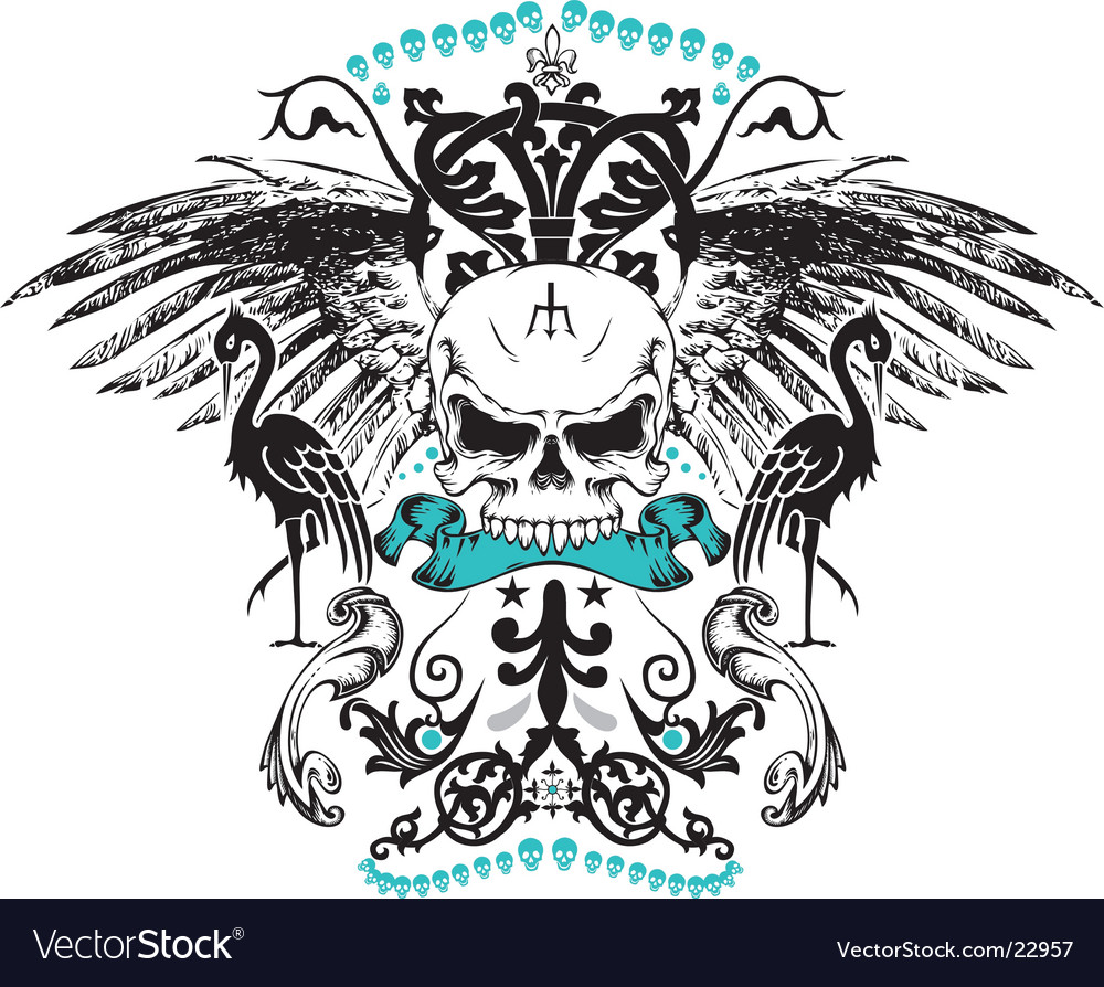 Pirate crest vector | Price: 1 Credit (USD $1)