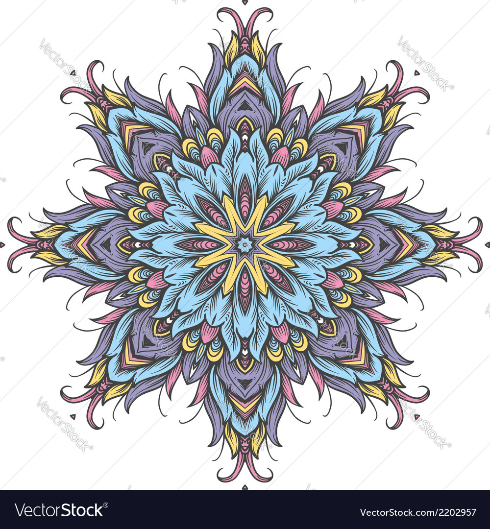 Round ornamental pattern vector | Price: 1 Credit (USD $1)