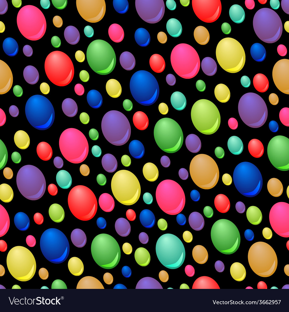Seamless pattern of colorful drops vector | Price: 1 Credit (USD $1)