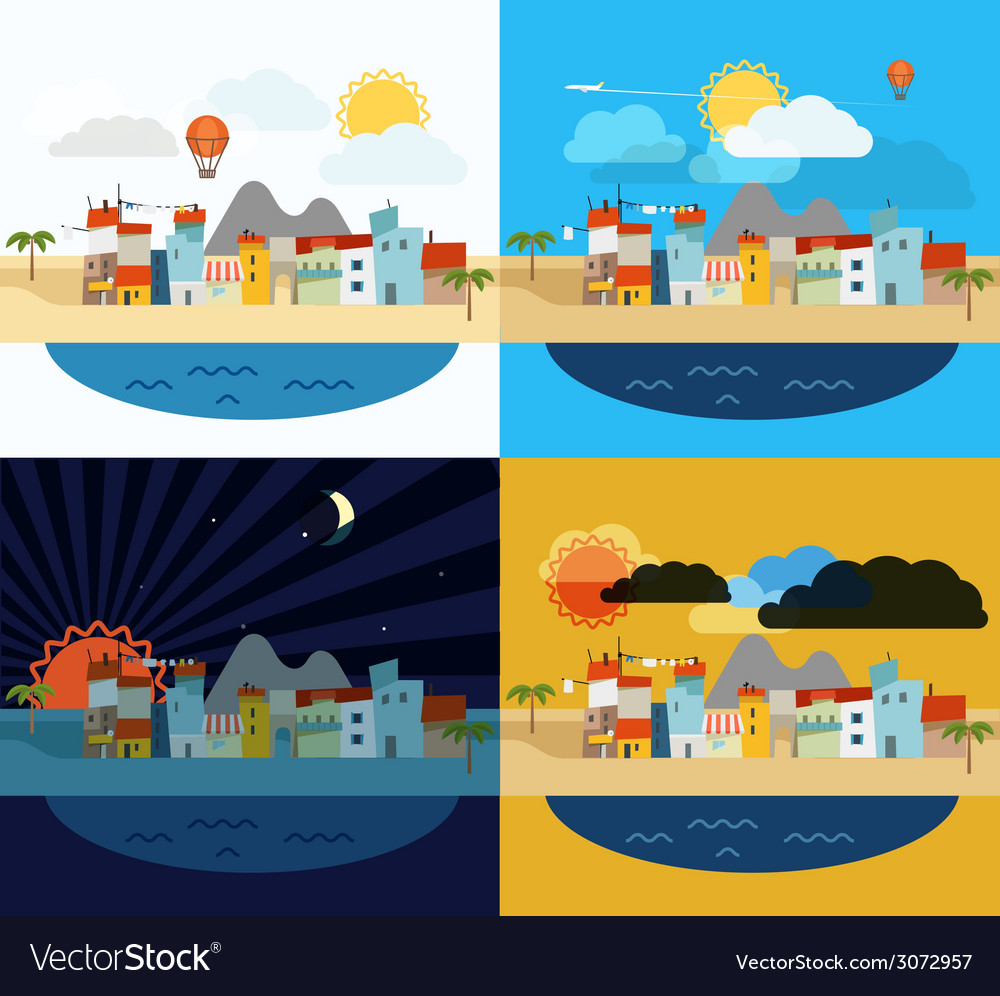 Summer seaside vacation vector | Price: 1 Credit (USD $1)