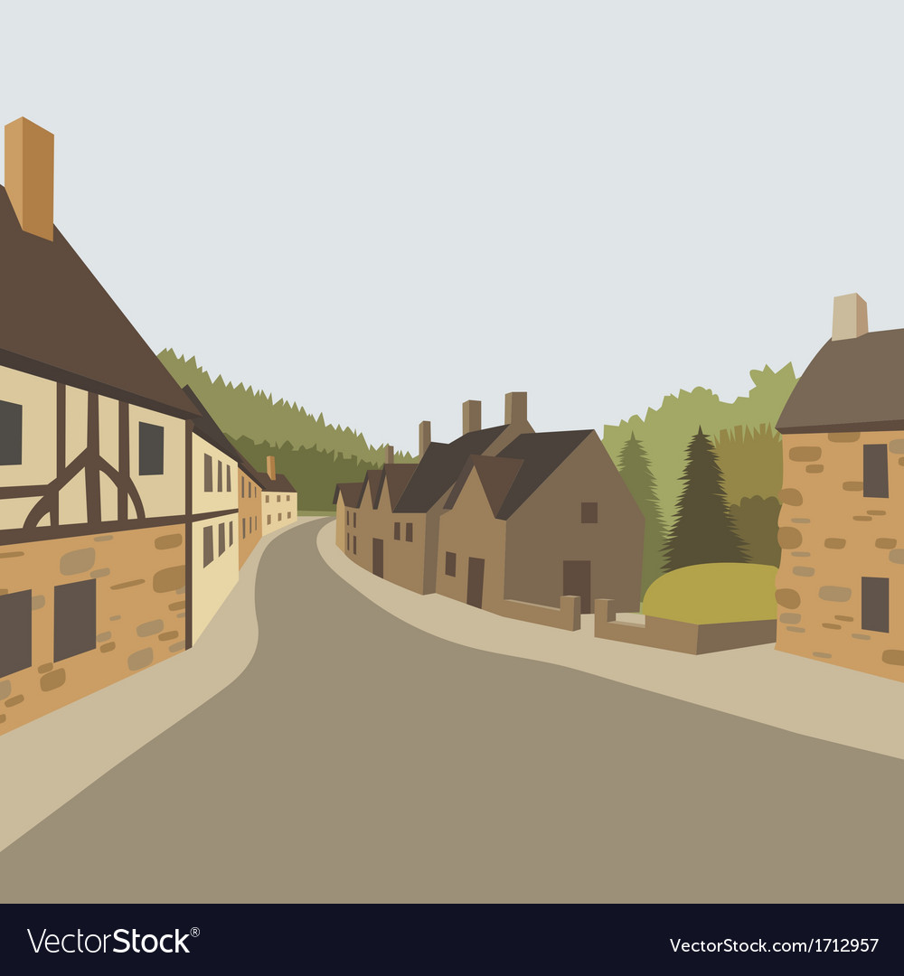 Village background vector | Price: 3 Credit (USD $3)