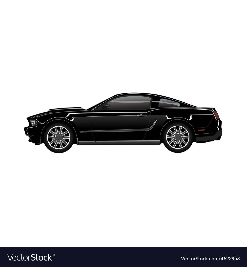 Black sport car vector | Price: 1 Credit (USD $1)