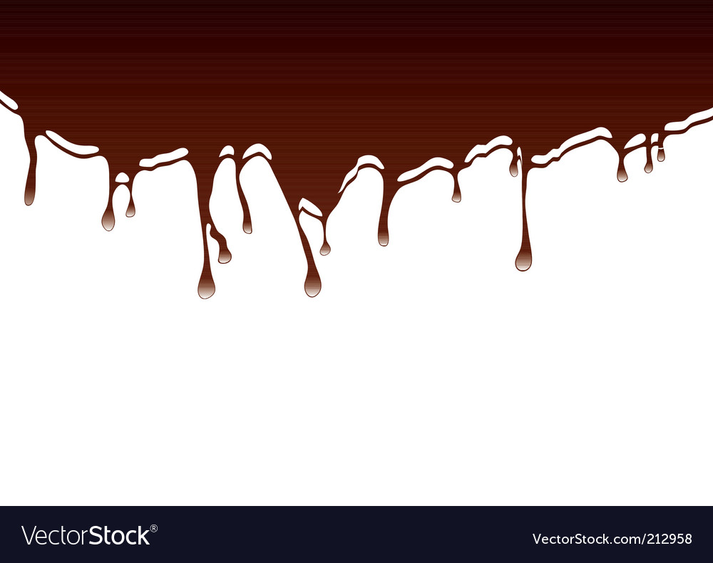 Chocolate dribble background vector | Price: 1 Credit (USD $1)