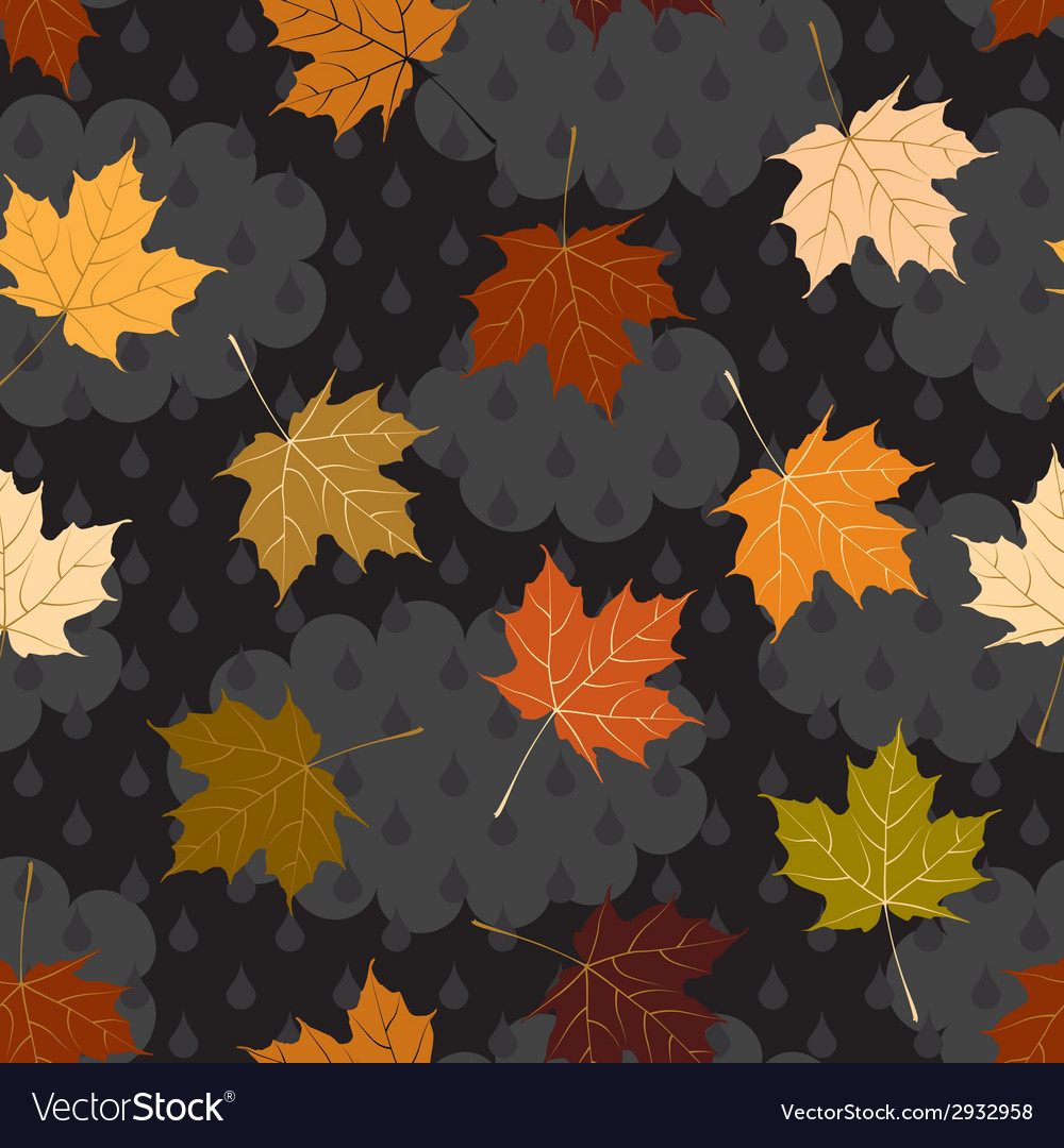 Cloudy autumn pattern vector | Price: 1 Credit (USD $1)