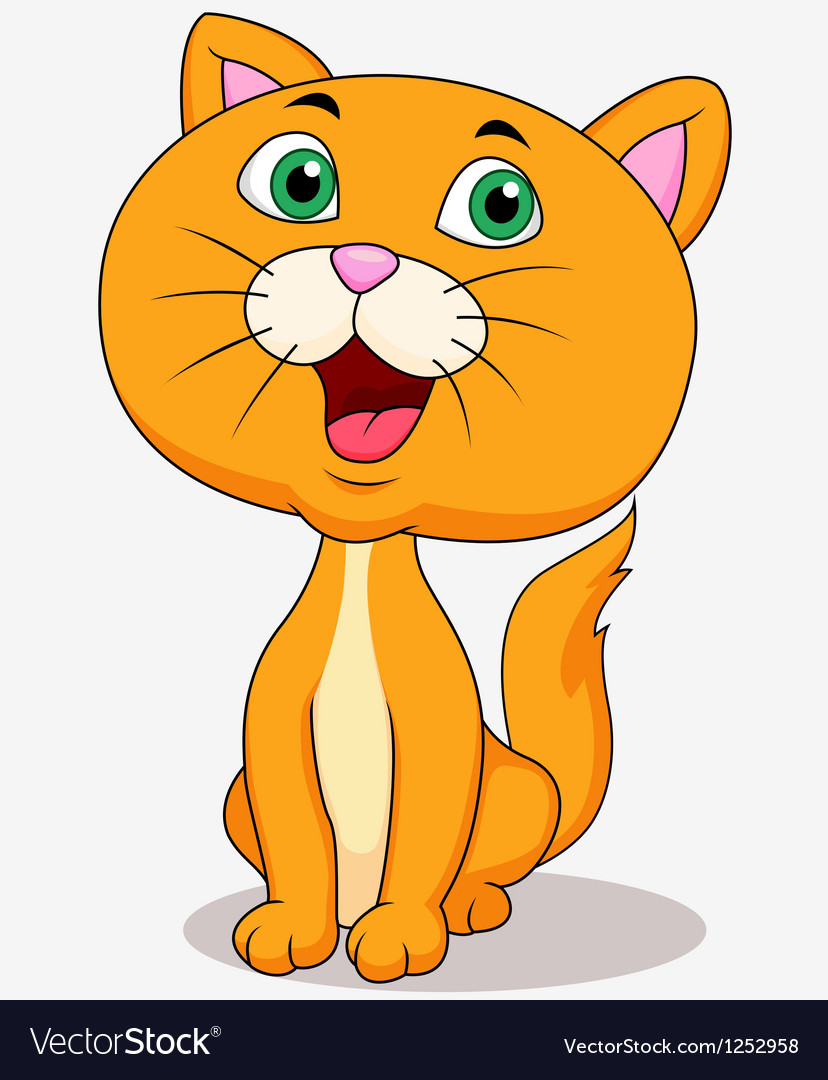 Cute cat cartoon sitting vector   Price: 1 Credit (USD $1)