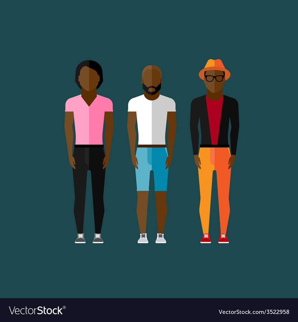 Men fashion style in flat style vector   Price: 1 Credit (USD $1)