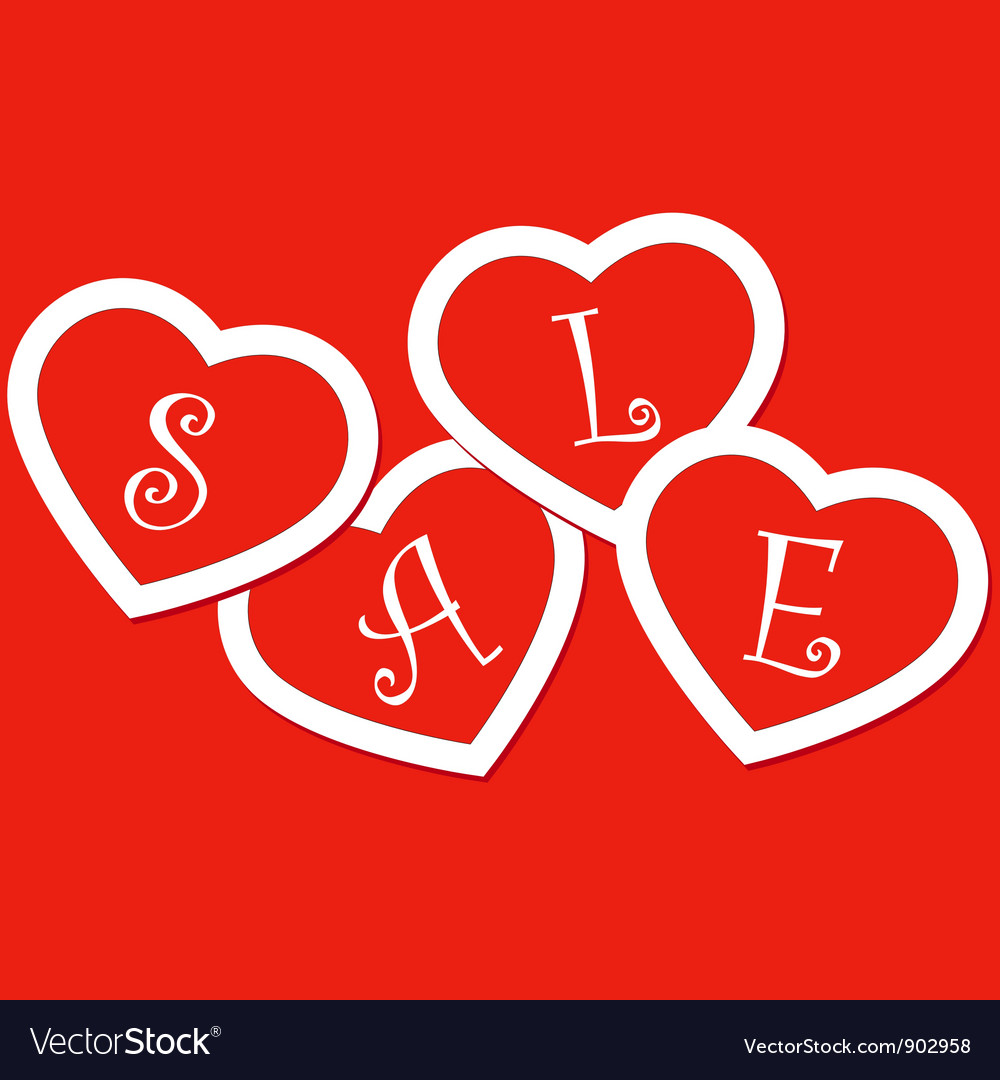 Sale hearts tags stickers vector | Price: 1 Credit (USD $1)