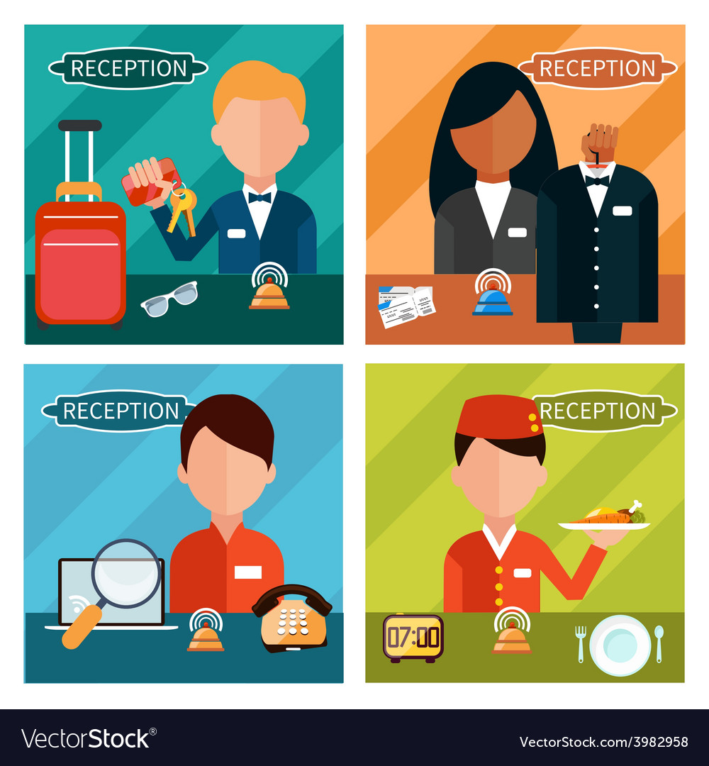 Set of reception character vector | Price: 1 Credit (USD $1)