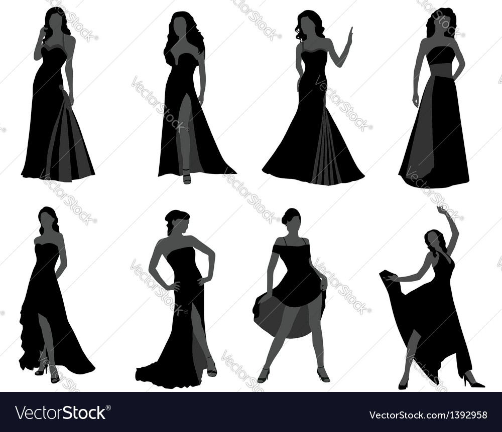 Silhouette of the woman vector | Price: 1 Credit (USD $1)