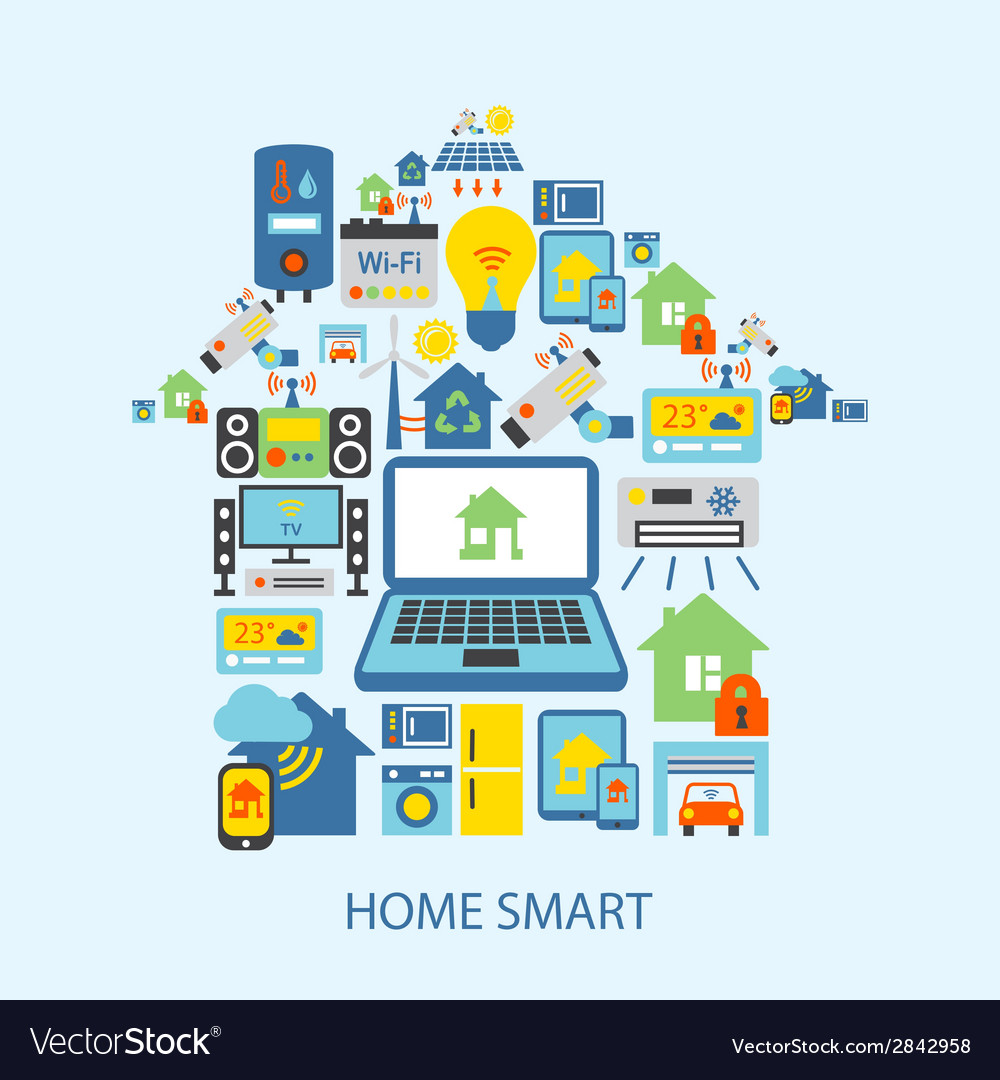 Smart home icons set vector | Price: 1 Credit (USD $1)