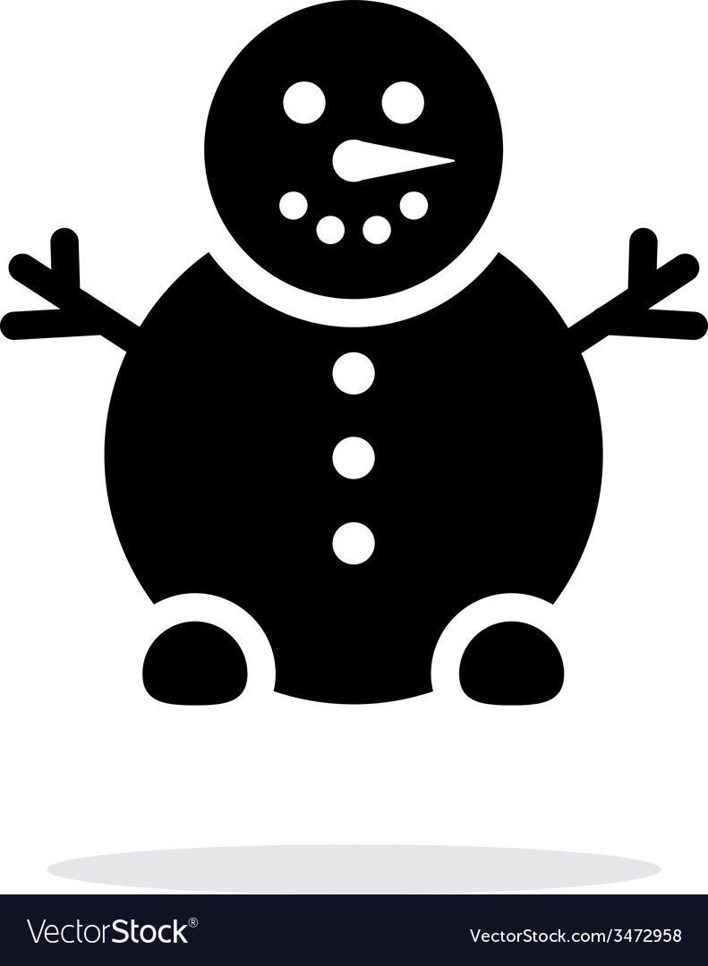 Snowman icon on white background vector   Price: 1 Credit (USD $1)