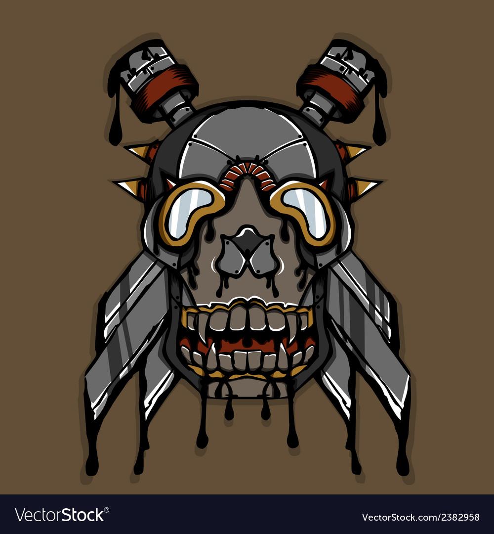 Steampunk ink skull vector | Price: 1 Credit (USD $1)