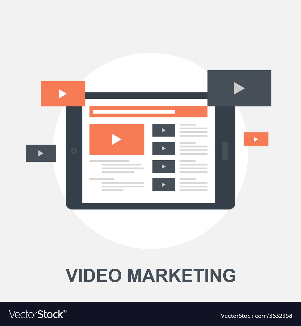 Video marketing vector | Price: 1 Credit (USD $1)