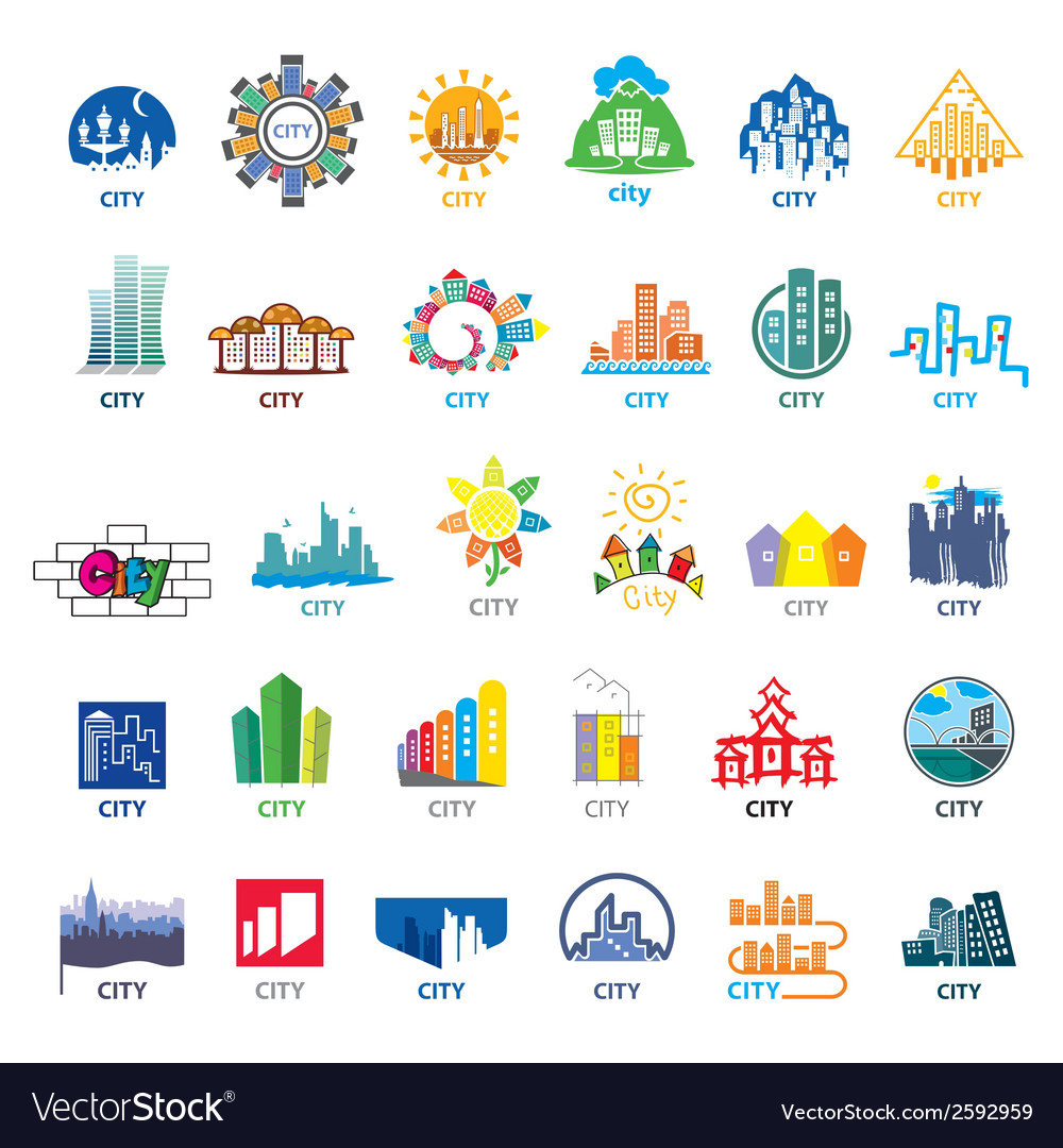 Biggest collection of logos cities vector | Price: 1 Credit (USD $1)